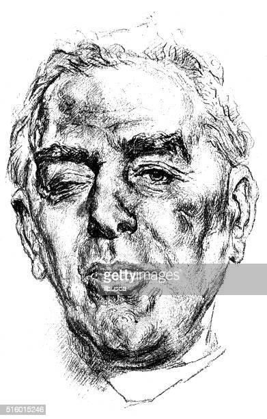 アンティークのイラストレーションの肖像フランスビショップヂ セギュール