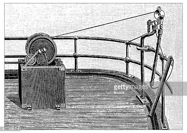 antique illustration of probe - steel cable stock illustrations, clip art, cartoons, & icons