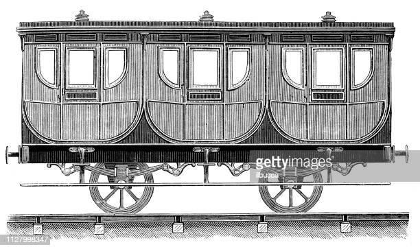 Antique illustration of scientific discoveries: Steam power