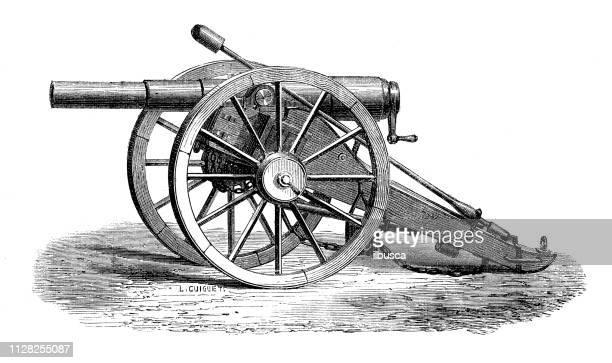 アンティークの科学的発見の図: 戦争の武器および爆発物 - キャノン点のイラスト素材/クリップアート素材/マンガ素材/アイコン素材