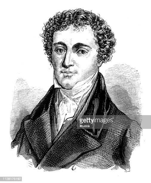 antique illustration of scientist: michael faraday - michael faraday stock illustrations, clip art, cartoons, & icons