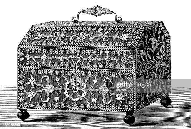 Antiguidade ilustração de espanhol do peito
