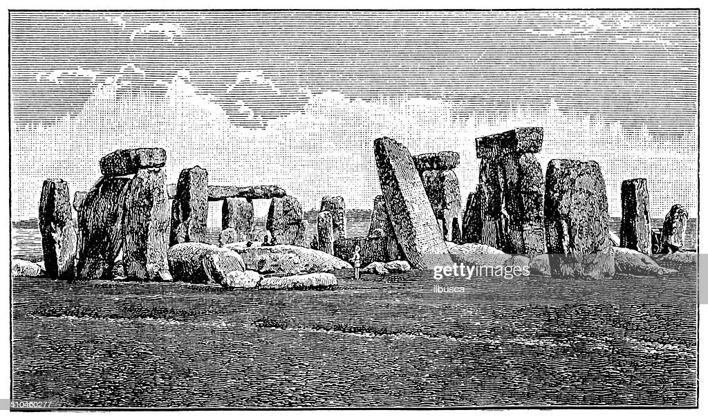 Antique illustration of Stone Circle, Stonehenge : stock illustration