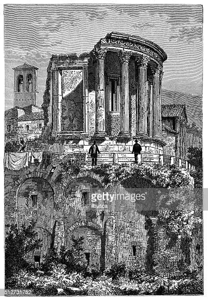 アンティークのイラストレーション寺院 ベスタ (チヴォリ、イタリア)