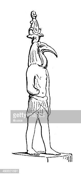 illustrations, cliparts, dessins animés et icônes de ancienne illustration de thot - dieu