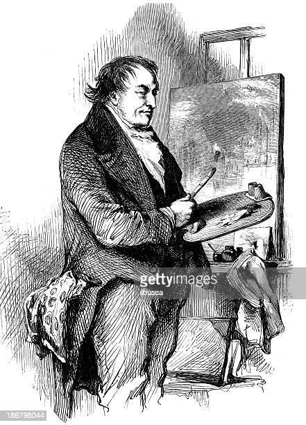 Antique illustration of Turner painter