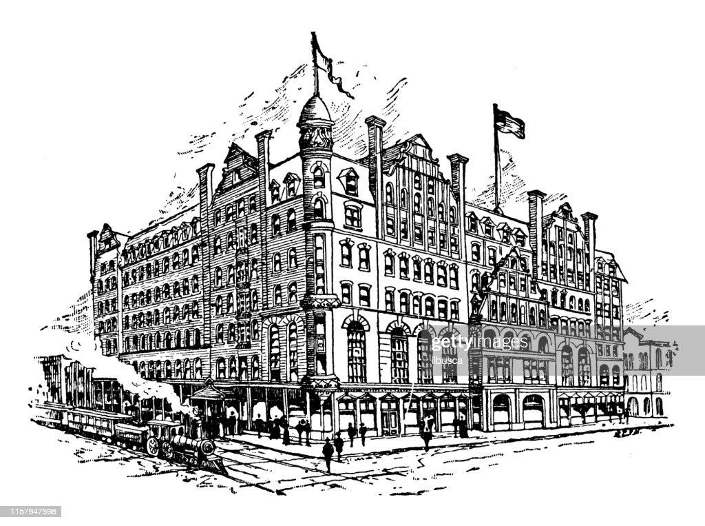 Ilustración antigua de EE.UU.: Atlanta, Georgia - Kimball House : Ilustración de stock