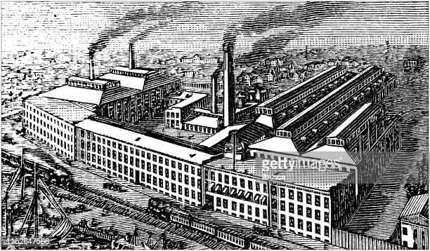 Antique illustration of USA: Bridgeport, Connecticut - Factory