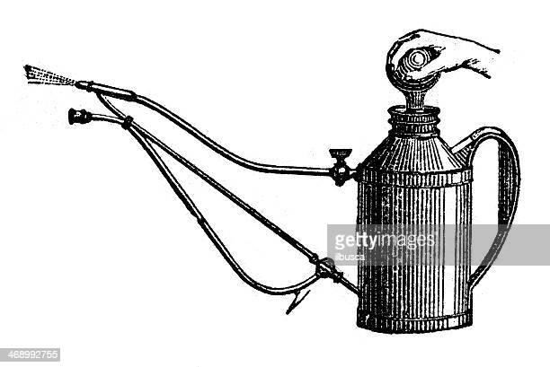 Ancienne illustration de vaporiser