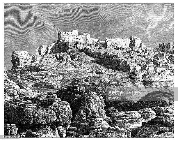 Antique illustration of view of Les Baux-de-Provence (France)
