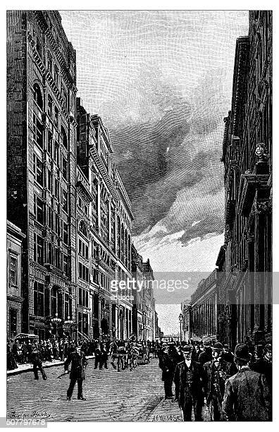 Antique illustration of Wall Street