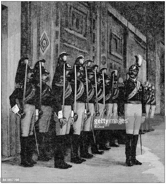 Antique illustration: Pope's noble guard