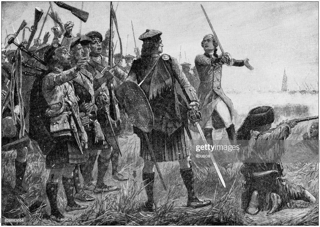 Antique illustration: Taking of Quebec : stock illustration