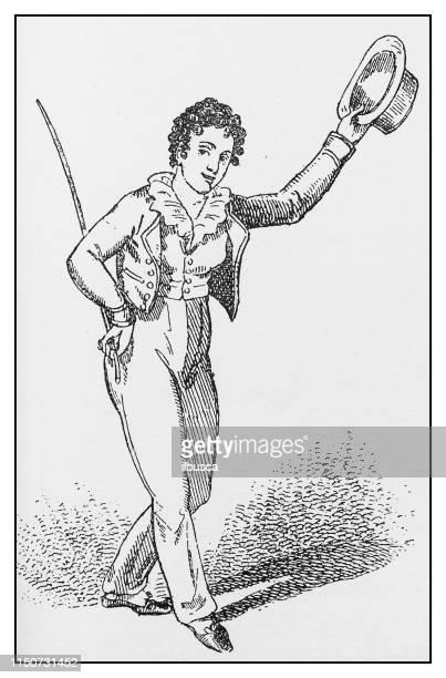 antique illustration: theatre performer - actor stock illustrations