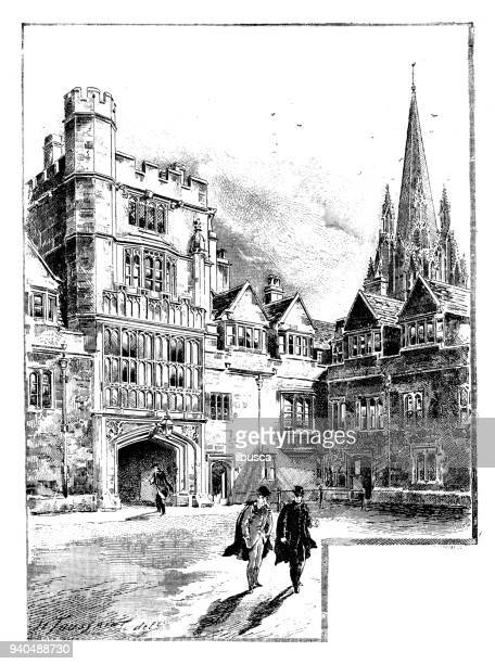 Antique illustrations of England, Scotland and Ireland: Brasenose College, Oxford