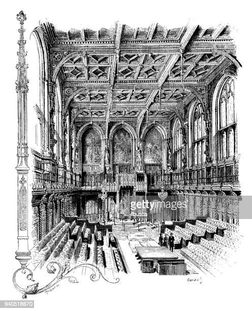 Antique illustrations of England, Scotland and Ireland: House of Lords