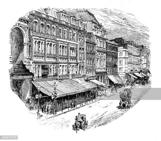 Antique illustrations of England, Scotland and Ireland: Oxford Street, London