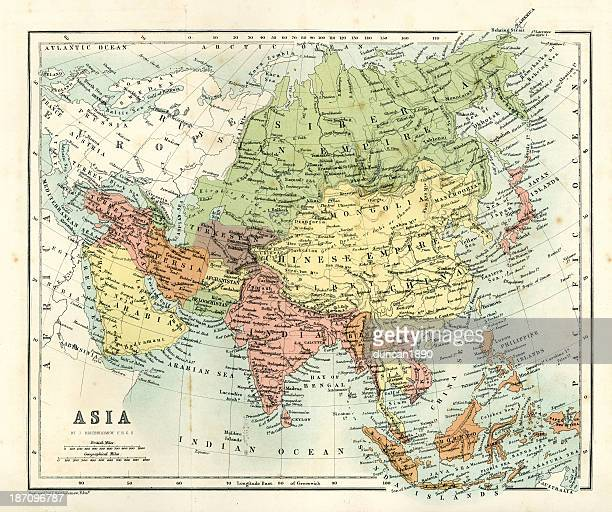 Antique map - Asia
