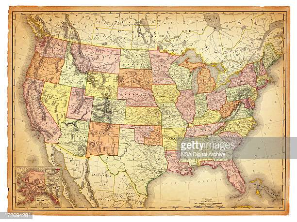 USA Antique Map