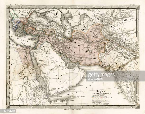 Antique Map of Alexander the Great's Empire