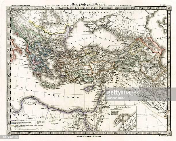 Antique Map of Ancient Eastern Mediterranean