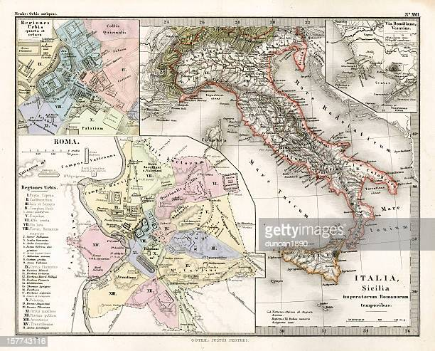 Antique Map of Ancient Italy