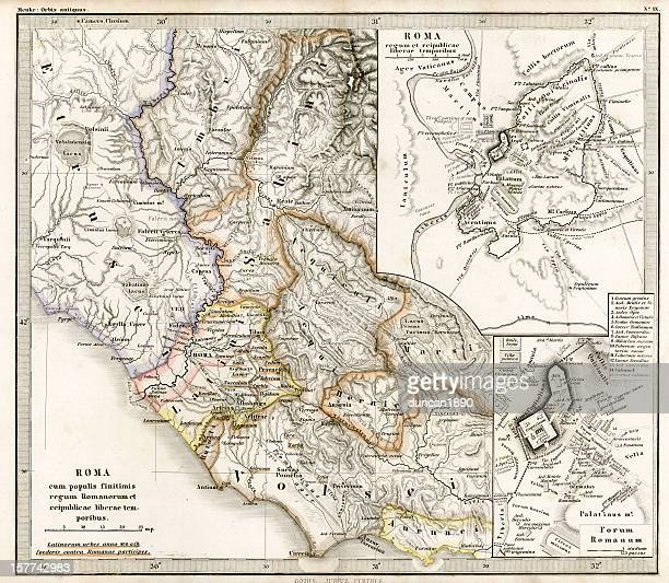 Antique Map of Ancient Roman Republic