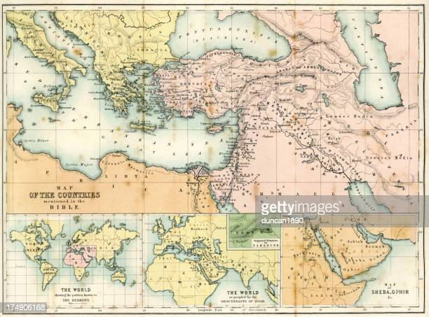 Antique map of Biblical Countries