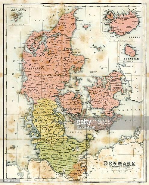 Antique map of Denmark