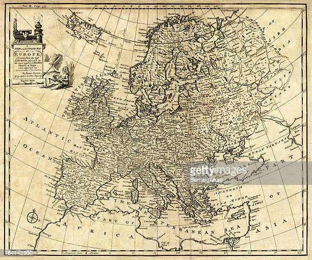 Antique Map of Europe 1744