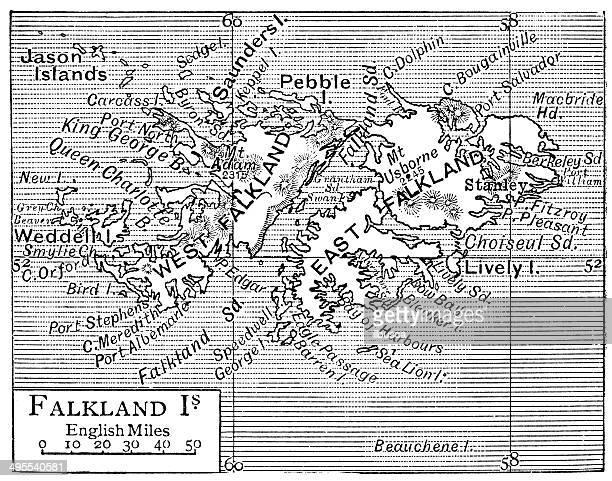 ilustraciones, imágenes clip art, dibujos animados e iconos de stock de antiguo mapa de las islas malvinas - islas malvinas