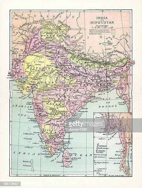 Antique Map of India or Hindustan