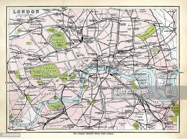 Carte Antique de Londres