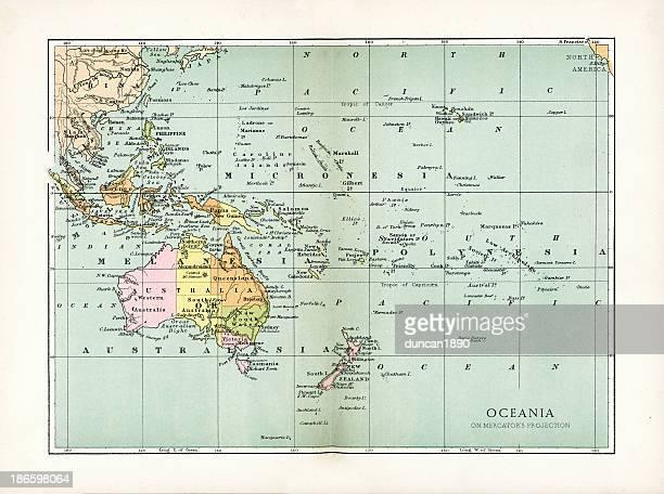 Antique Map of Oceania