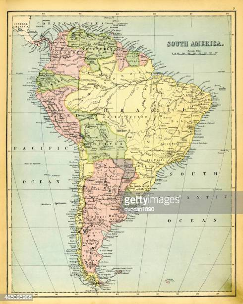 Antique Map of South America 1897