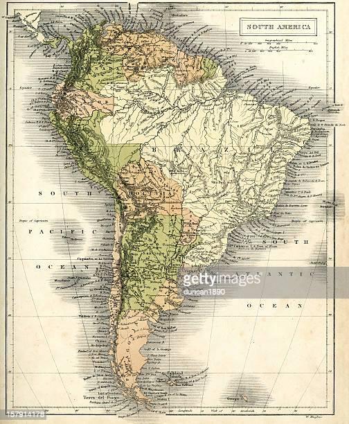 Mapa antigo da América do Sul