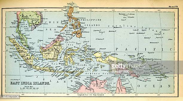 Antique Map of the East India Islands 1897