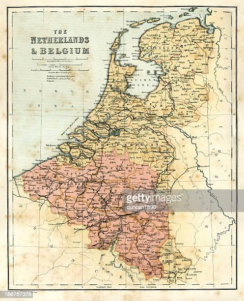 Antique map of the Netherlands and Belguim
