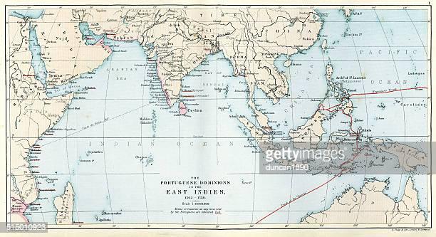 Antique Map of the Portuguese Empire