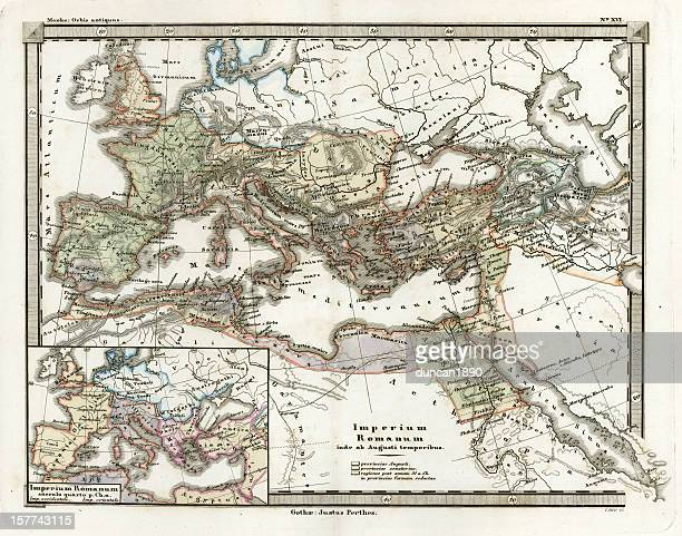 Antique Map of the Roman Empire