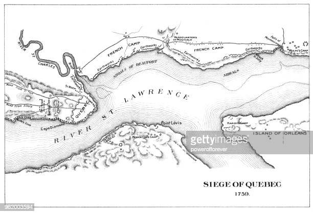 Antique Map of the Siege of Quebec - 18th Century