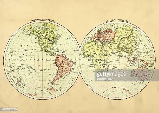 Antique Map of the World 1897
