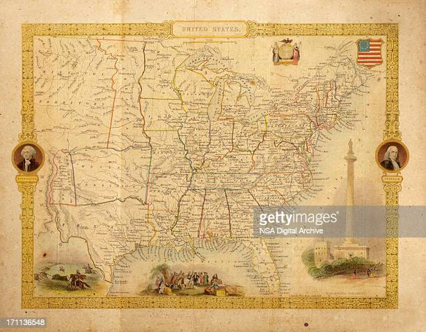 Antique Map of USA