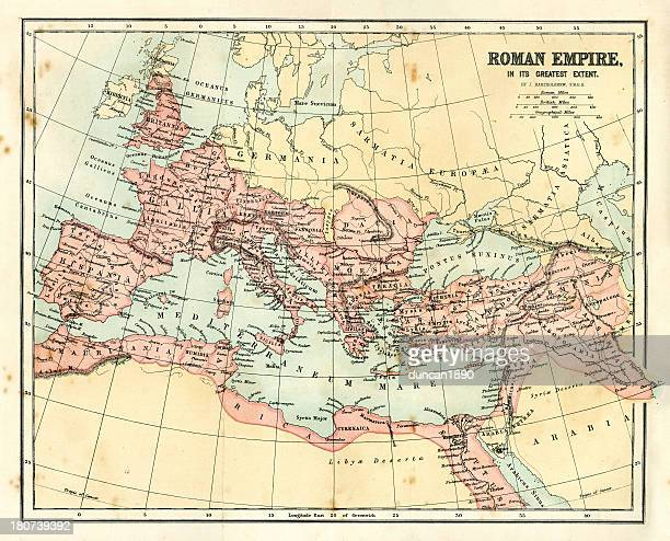 Antique map - Roman Empire