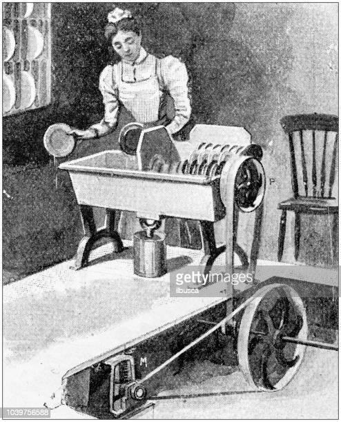 Antique painting illustration: Dishwasher