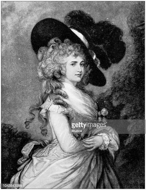 Antique painting illustration: Duchess of Devonshire