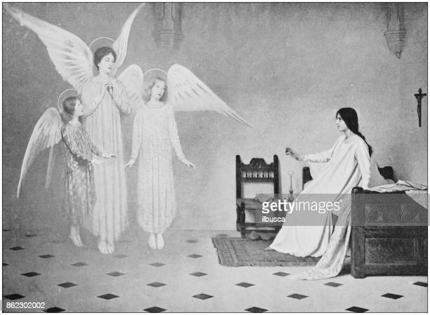 Antique photo of paintings: Angels