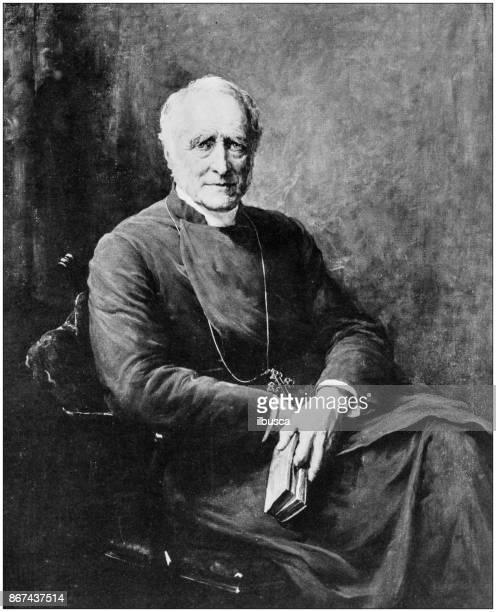 ilustrações, clipart, desenhos animados e ícones de foto antiga de pinturas: bispo de lincoln - bishop clergy