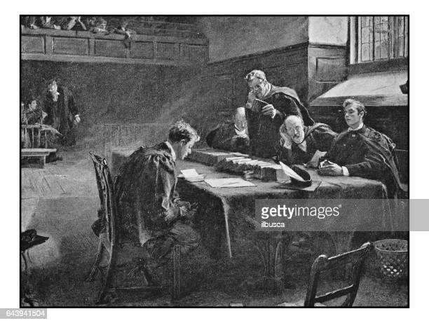 antique photo of paintings: examination - 19th century stock illustrations, clip art, cartoons, & icons