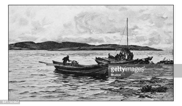 絵画のアンティーク フォト: 漁師 - 1800~1809年点のイラスト素材/クリップアート素材/マンガ素材/アイコン素材